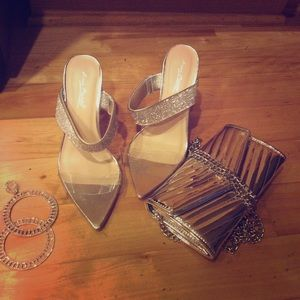 Purse pair of shoes earrings for $39 special